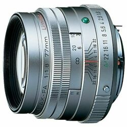 Pentax Smc Fa77mmf1.8 Limited Lens Silver K Mount Full-size Aps-c