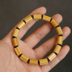 Collect Chinese Natural Old Moso Bamboo Pure Handmade Polish Exquisite Bracelet