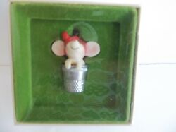 Hallmark Thimble Mouse ornament 1978 Tree Trimmer1st in Series