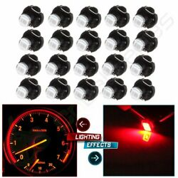 20x Red T3 Neo Wedge 2835SMD LED Dash AC Climate Control Light Panel Switch Bulb