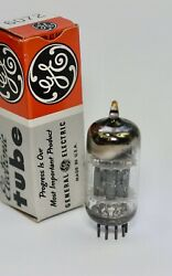 1959 Nos Ge Jan-6072 12ay7 Sub Gl-6072 Low Noise Blackplate 3-mica Perfect Tube