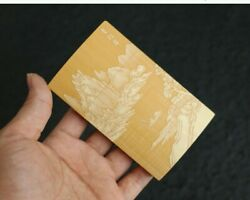 Chinese Old Moso Bamboo Hand Carving Mountains Rivers Cigarette Case Tobacco Box