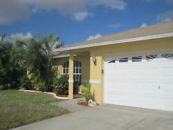 Rented home SW Cape Coral 3bed 2bath pool & heater fenced backyard