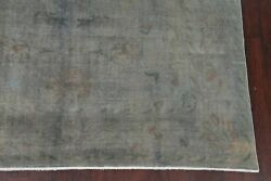 Antique Silver Gray Over-dyed Oushak Turkish Area Rug Distressed Hand-made 8x11