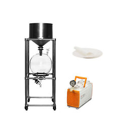 20l Vacuum Filtration Stainless Steel System W/ Filter Paper Andvacuum Pump