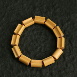 Collect Chinese Natural Old Moso Bamboo Handmade 12beads Pretty Fashion Bracelet