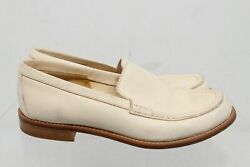 Joan & David Cream Leather Women's Loafers Size EU 36.5