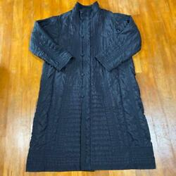 Issey Miyake Haat Total Embroidery Long Coat Ladies Size L D592