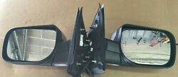 04-14 Chrome Mirrors Power Heated Lh And Rh Pair Set For Armada Titan Pathfinder