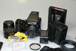 Mamiya 645 Pro Tl W/80mm/150mm/polaroid And120-220backs/winder+case Excellent+