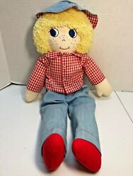 Vintage Primitive Raggedy Andy 21 Inch Doll