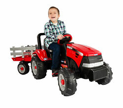 Peg Perego Case Ih Tractor And Trailer Pedal Ride-on