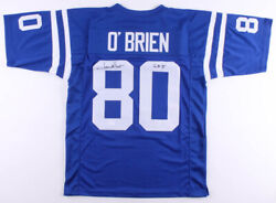 Jim Oand039brien Signed Baltimore Colts Jersey Inscribed S.b. Vjsa Coa Kicker /wr