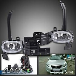 Clear Lens Fog Light Bumper Lamps W/switch+harness Fit For 08-10 Accord Coupe