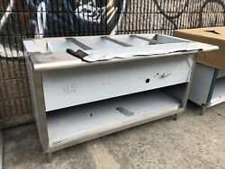 60andrdquo 5andrsquo Ft Steam Table Stainless Steel Lp Propane Gas 4 Pans - Nsf Approved