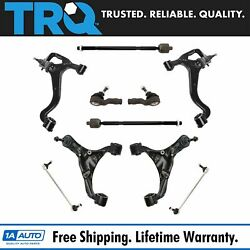 Trq Control Arms Ball Joints Sway Links Tie Rods Steering Suspension Kit 10pc