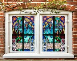 3d Lord Father P084 Window Film Print Sticker Cling Stained Glass Uv Block Su