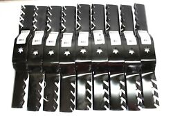 9pk Stens 302-412 Toothed Mower Blade For Troy Built Cub Cadet Massey 50