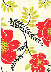 Red Flower Floral Gold Leaf Vinyl Self Adhesive Wall Contact Paper Peel Stick