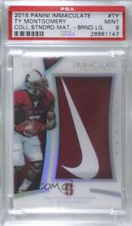 2015 Immaculate The College Standard Brand Logo /2 Ty Montgomery Psa 9 Rookie
