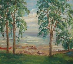 M. Alexander - 'along The Shore' - Impressionist Oil Painting - U.s. - 20th C.