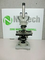 Spencer/american Optical Dual Viewing Teaching Microscope W/ 2 Objectives