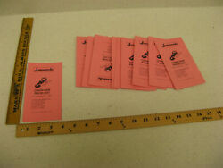 Lot Of 8 1980 80 Jonsereds Chainsaw Chain Saw Price List Guide 361 451e 621 151