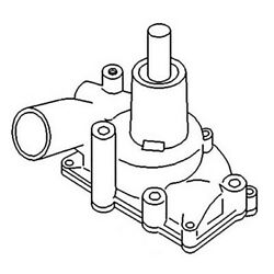 157069as Water Pump For Oliver Tractor 1650 1655 1750 1800 1850 1855 1955 1950t