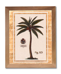 Tropical Palm Tree Room Landscape Wall Picture Honey Framed Art Print