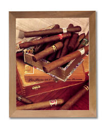 Old Cigar Labels And Box And Cigars Tobacco Wall Picture Honey Framed Art Print