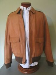 Polo And039farringtonand039 Type A2 Leather Bomber In Rare Lighter Brown Xl