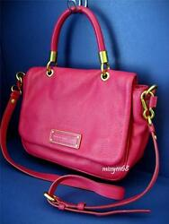 Marc By Marc Jacobs Too Hot To Handle Small Satchel Handbag Fuchsia New With Tag