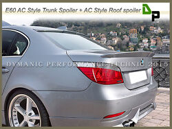 354 Titan Silver Ac Type Trunk And Roof Spoiler For Bmw E60 5-series Sedan 04-10