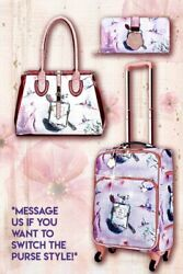 Arosa Fragrance 3PC Set  Vintage Travel Carry on with Spinner Wheels