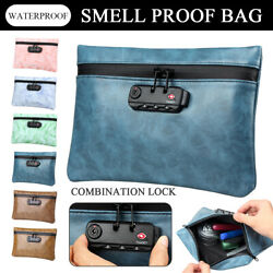 Smell Proof Bag Pouch Odor Pack Container Case Stash Storage W Lock Waterproof