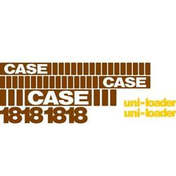 New Whole Machine Decal Set With Uni-loader Decals Fits Case Skidsteer 1818