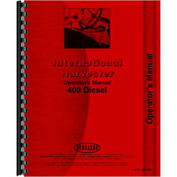 New Farmall 400 Tractor Operators Manual Diesel Only