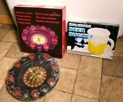 Nib Shot Glass Roulette Drinking Game And Inflatable Beer Pitcher/ice Bucket
