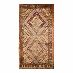5and0395x10and0398 Gallery Size Antique Khotan Full Pile Handknotted Oriental Rug R48494
