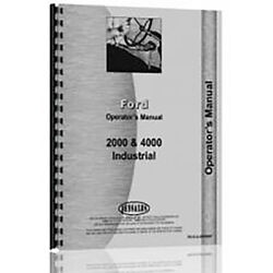 Operators Manual Fits Ford 2000 Row Crop 4 Cylinder Gas Diesel Tractor