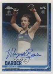 2019 Topps Chrome Ufc Fighter Blue Wave /75 Maycee Barber Fa-mb Rookie Auto