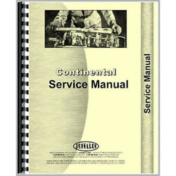 Service Manual For Continental Engines 4 Cyl Tractor Con-s-4cyl O/h