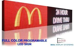 Wifi 19 X 50 Programmable Led Text/logo Business Sign Bright Graphic Billboard