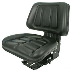 Black Fullback Tractor Suspension Seat Fits Ford / Fits New Holland 600, 601 800