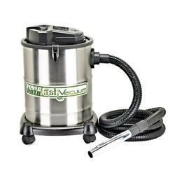 Ash Vacuum W/ 2 Filters Silver 4-gallon Cleans Ash Out For Fireplace Bbq Grills