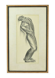 """Vintage WPA Era Social Realism Lithograph by Iver Rose """"Lord Oh my Lord"""""""