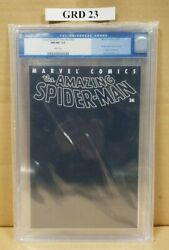Amazing Spider-man 36 Black Cover Tribute To 9/11 Cgc Graded 9.8 Nm/mt Wp 02