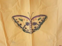 Shawl Cotton Hanging Butterfly Flower Yellow Indian Hopi Native American 39x29