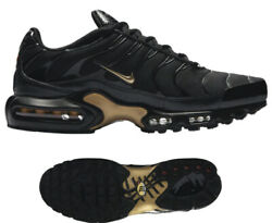 New NIKE Air Max Plus TN classic Men's Athletic Sneakers black gold sizes 9-13