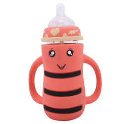 Baby Sippy Cup Kids Learn Drinking Bottle Dual Handle Straw Training Cups Sl